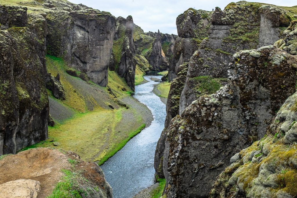 Fjadrargljufuro upės kanjonas