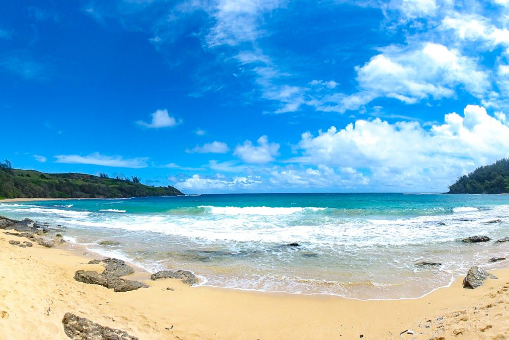 Kauai salos paplūdimiai