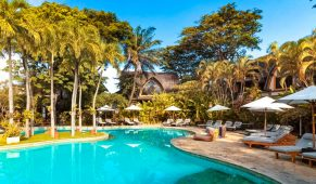 Balis viešbutis palmės