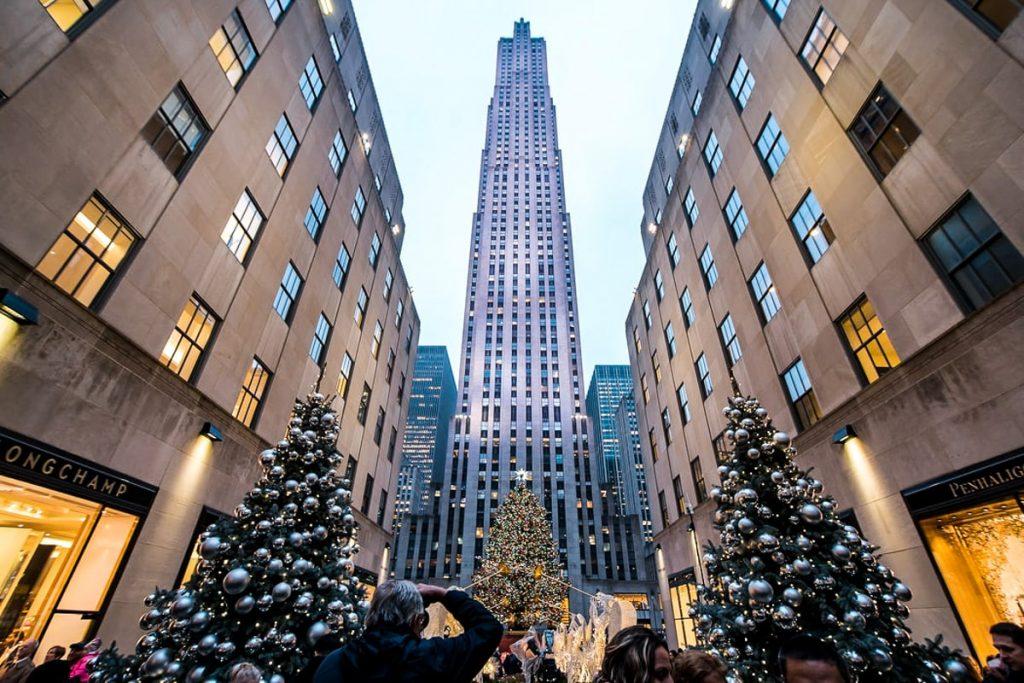 Niujorke žiemą -Rokfelerio eglė